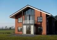 Nieuwbouw woning aluminium en kunststof kozijnen