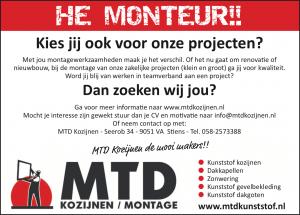 Vacature Monteur - MTD